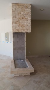 Veneer stone fire place