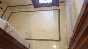 diagonal marble floor